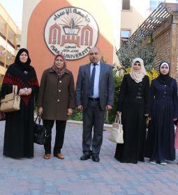 زيارة رئيسة الاتحاد العام للمرأة الفلسطينية - آمال حمد والوفد المرافق لها
