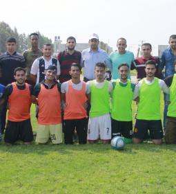 """جامعة الإسراء تختتم بطولة الكليات """"القدس في العيون """" لكرة القدم بنجاح مميز"""